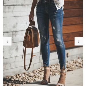 NEW KanCan split denim jeans